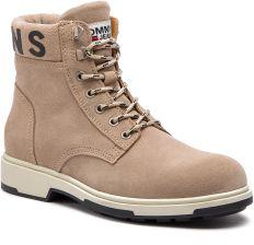 94d6346c44053 Kozaki TOMMY HILFIGER - Suede Boot EM0EM00235 Desert Sand 932 eobuwie