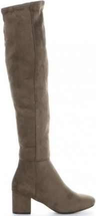 809a4c4a1de9e Klasyczne Kozaki Damskie wykonane z wysokiej jakości zamszu ekologicznego  marki Bellucci Khaki (kolory) ...