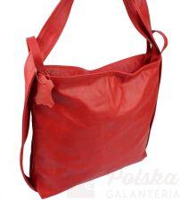 77a101110ba0a Praktyczny Plecak Skórzany Torebka 2 w 1 MAGRE (PL) TERESA Skóra Naturalna  Licowa Czerwony