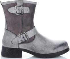 3583564df8a89 Firmowe Botki Damskie Lady Glory buty na każdą okazję wykonane z wysokiej  jakości skóry eko Szare ...