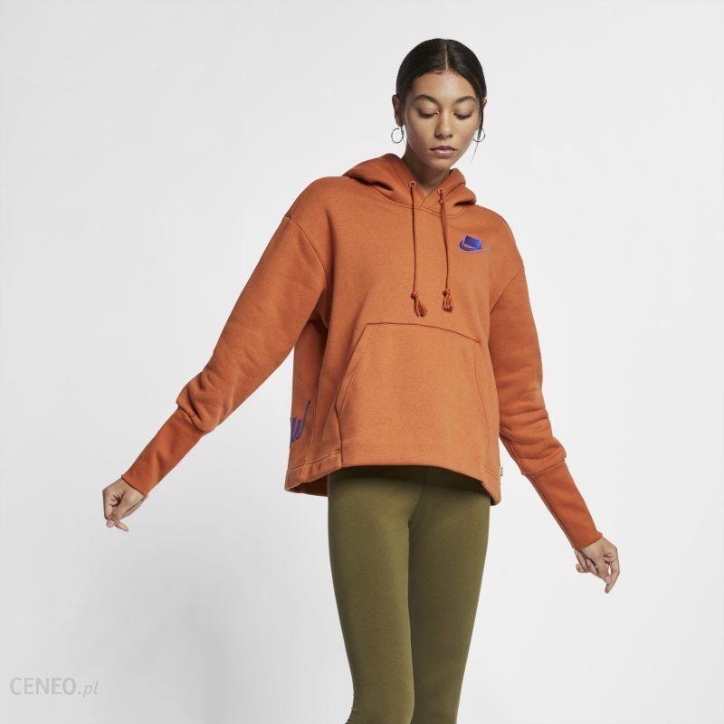 Damska dzianinowa bluza z kapturem Nike Sportswear Brązowy Ceny i opinie Ceneo.pl