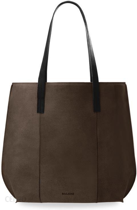 faa9ce76cd91a Duża torebka damska stylowy shopperbag baleine skóra naturalna - brązowy -  zdjęcie 1