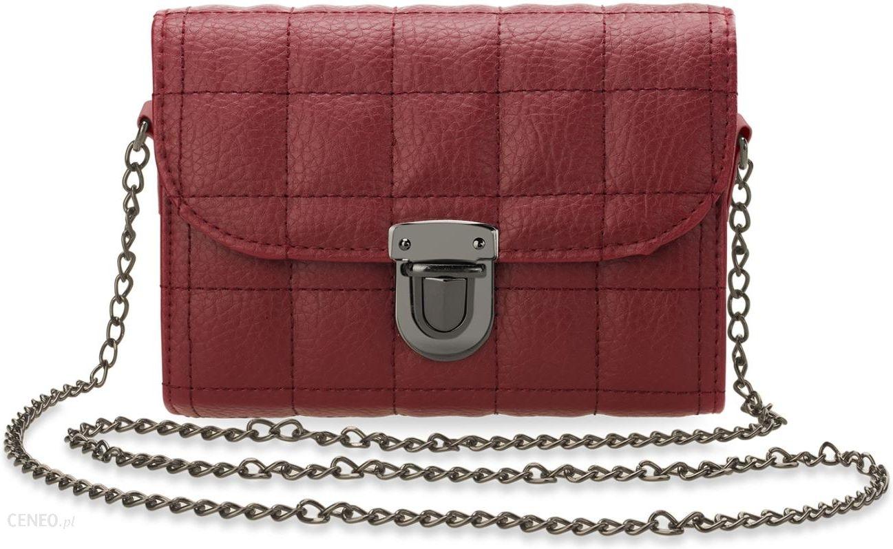 e1129ce24e000 Mała chanelka pikowana torebka damska listonoszka kuferek łańcuszek -  czerwony - zdjęcie 1