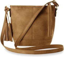 9ffdfbd5c9bf1 Listonoszka damska torebka na ramię styl boho frędzle - brązowy