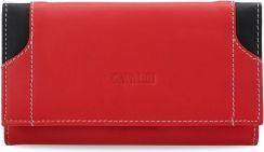 14f4ea6c025e3 Stylowy portfel damski cavaldi harmonijka skóra naturalna – czerwony