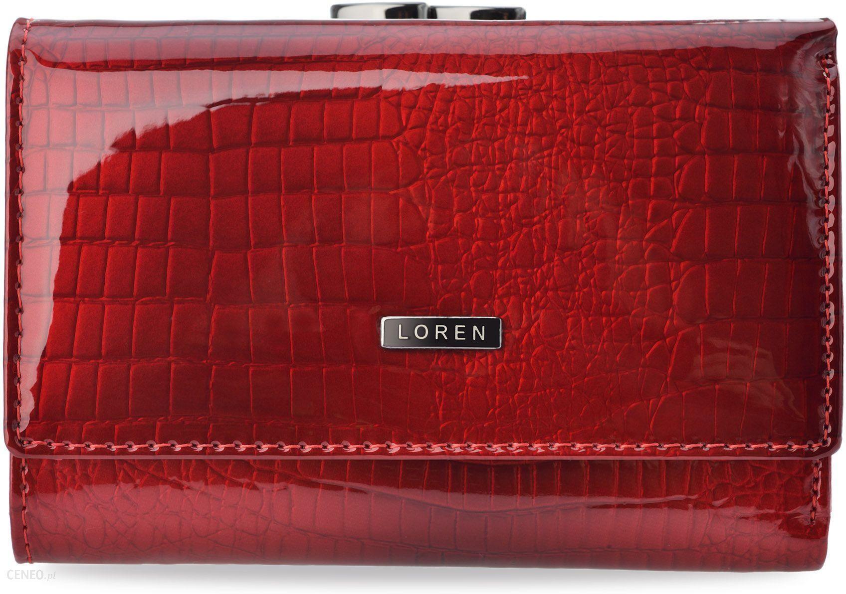 42d9c5c6b4968 Mały skórzany portfel damski lakierowany loren - czerwony - Ceny i ...