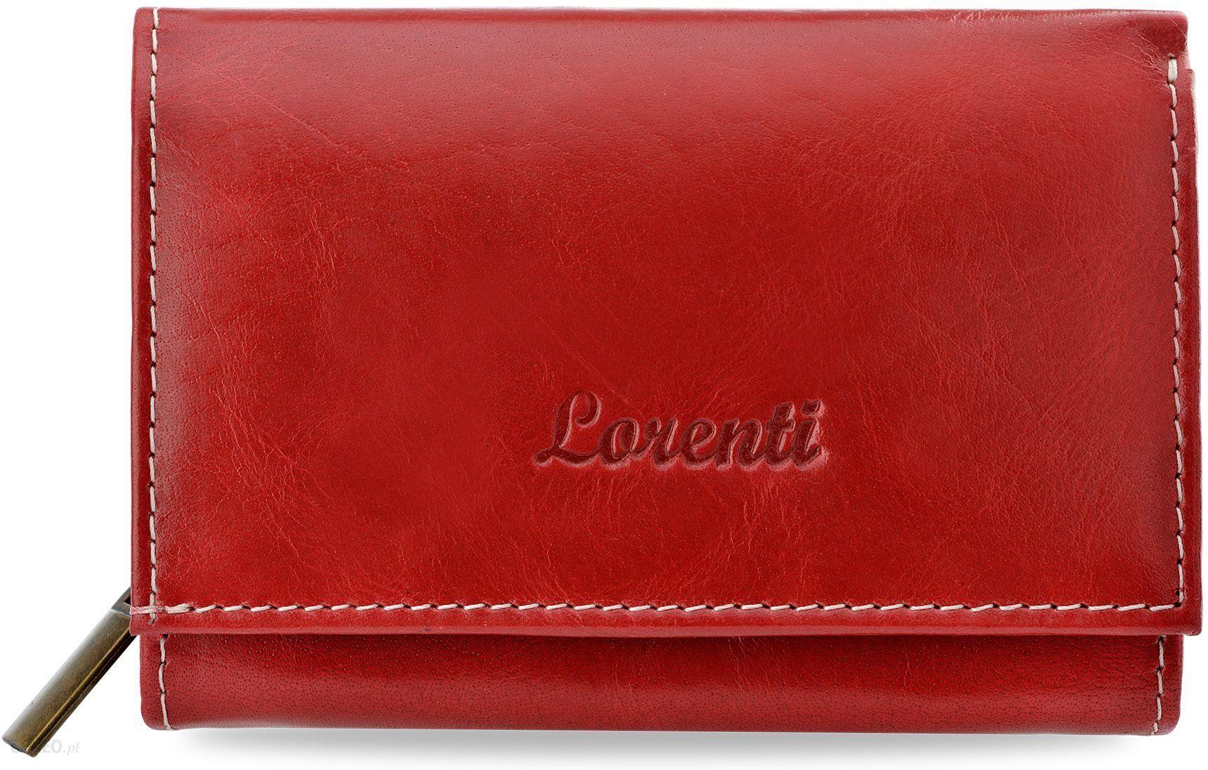fbda6ca51de75 Klasyczny skórzany portfel damski lorenti z duża ilością kieszonek -  czerwony - zdjęcie 1