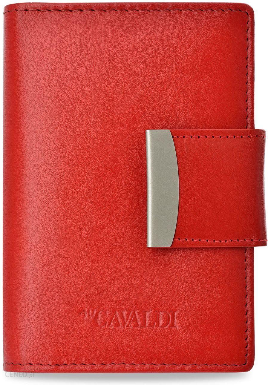 32e5f2da171ed Klasyczny damski portfel cavaldi skóra naturalna - czerwony - Ceny i ...