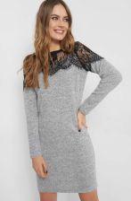 0dc9584ff3cb Dzianinowa sukienka z koronką