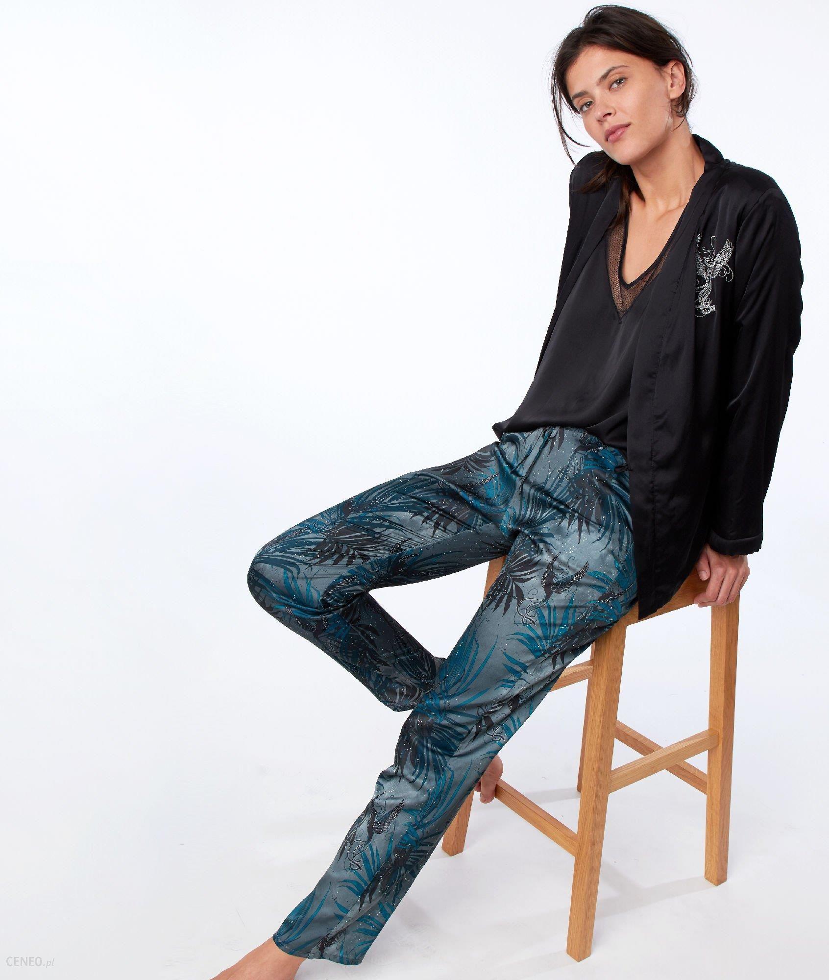 profitez de la livraison gratuite qualité supérieure modèles à la mode Etam Pyjama 3 pièces satin - BRUNE - Ceny i opinie - Ceneo.pl