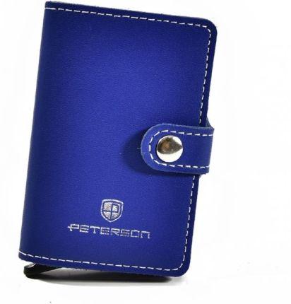 d577a8852a5bc Etui na karty kredytowe i banknoty PETERSON 602 niebieskie - niebieski