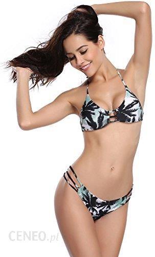 Amazon shekini damski Bandeau zestaw bikini kostium kąpielowy moda  kąpielowa neckholder Neck uchwyt-bikini-obdarzyli wyściełane zestaw bikini