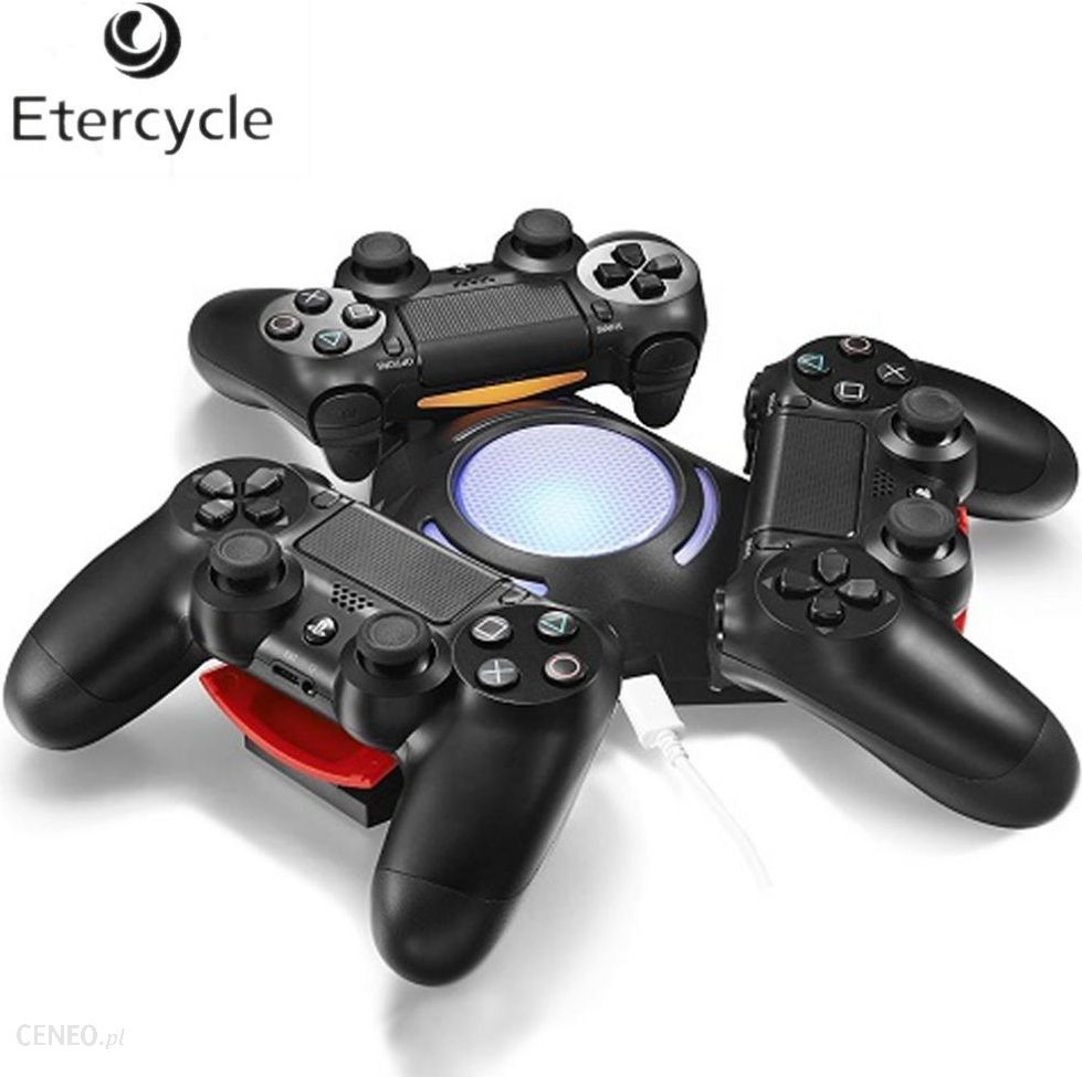 AliExpress Trójkąt Trzyosobowy Portu Ładowania Ładowarka USB Charging Dock Stacja z LED Light Dla Sony Playstation 4 PS4 Dualshock 4 Kontroler