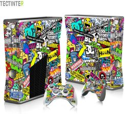 a9cd7643b AliExpress Bombardowanie Graffiti Protector Vinyl Sticker BOMB dla Konsoli  Xbox 360 Slim z 2 Pokrywa dla