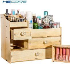 Aliexpress Hecare Diy Drewniane Pudełko Do Przechowywania Makijaż