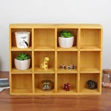 Aliexpress Drewniane Półki ścianie Wisi Rozmaitości Box Nocna 12 Sekcja 3 Warstwy Sortowanie Organizator Wyświetlacz Regały Drewniane Domu Dekoracji