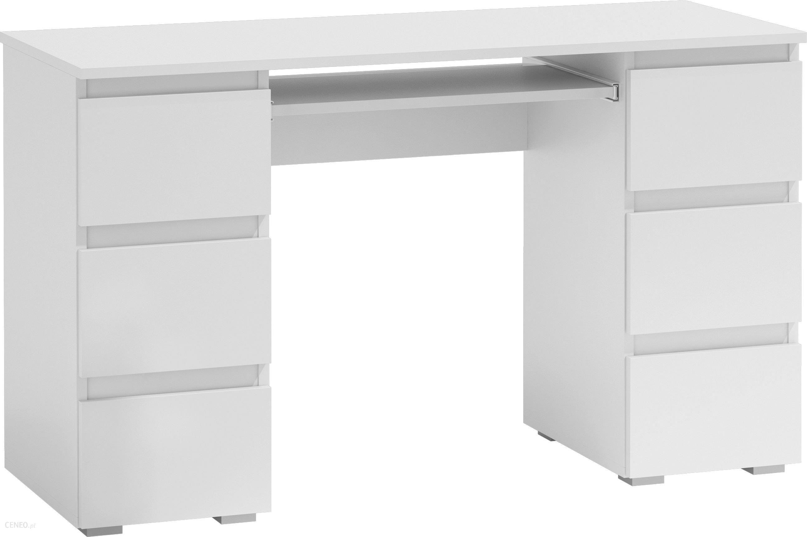 Biurko TopEshop Biurko komputerowe 6 szuflad na klik biel