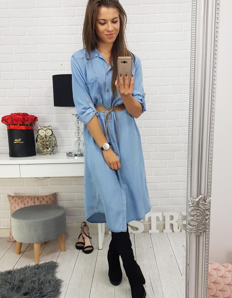 Dstreet Sukienka długa rozpinana jeansowa (ey0518) Ceny i opinie Ceneo.pl