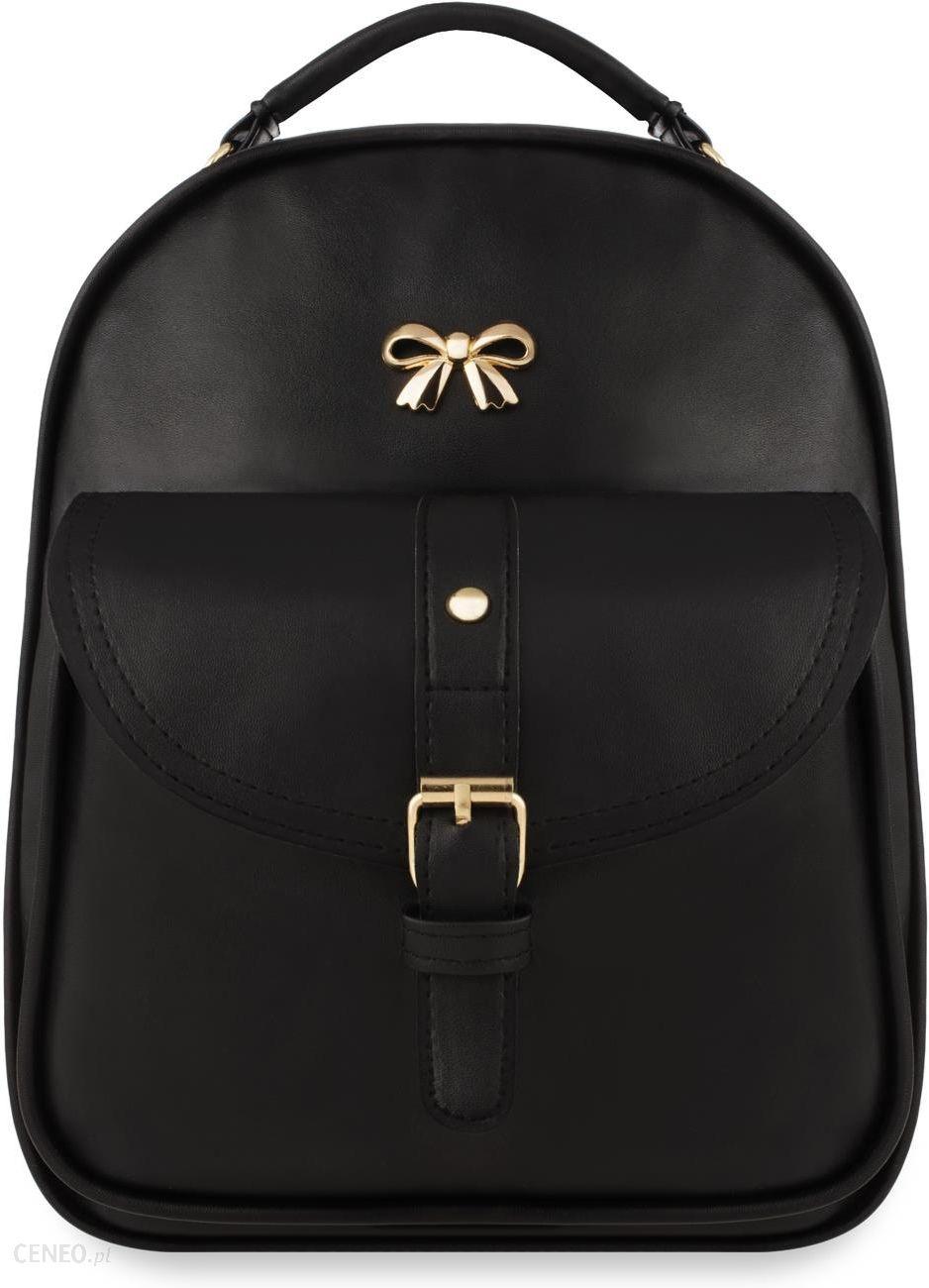 9ee7d82e8ba00 Elegancki plecak damski mały plecaczek z kieszonką – czarny - Ceny i ...