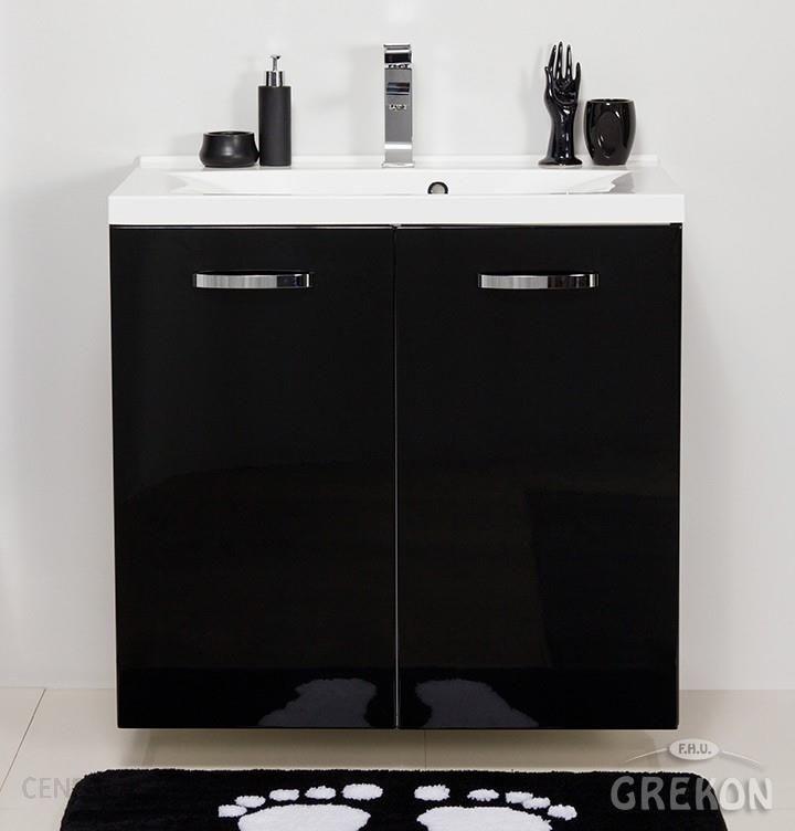 Niesamowite Gante Czarna Szafka Łazienkowa Z Umywalką 80 48 K Jona Jnacu8048K UB36