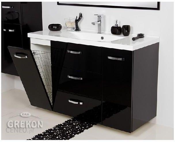 Poważnie Gante Czarna Szafka Łazienkowa Z Umywalką 120 48 K Jona QG45