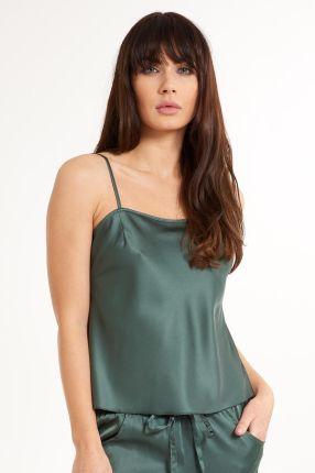 681e026498d1c4 LingaDore Damska satynowa koszulka do spania Secret Delight zielony L