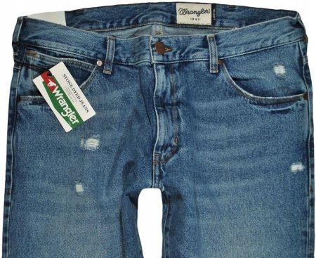 fc6bb90ed996a3 WRANGLER spodnie SLIM tapered blue LARSTON W32 L30 Allegro