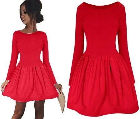 8a3864b709 Rozkloszowana Sukienka Pikowana Pas Rękaw 3 4 M208 - Ceny i opinie ...