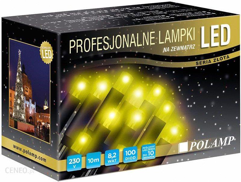 Polamp Lampki Choinkowe Flash 100 Diod Led 10 M 3 3 W Barwa Zolta Kabel Bialy