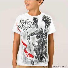 a53cdf053 Koszulka patriotyczna dziecięca Husaria - szara 5 - 6 lat