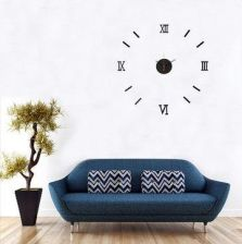 DIY 3D Roman Numeral Digital Wall Clock Mirror Acrylic