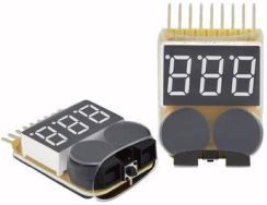 Lipo Battery Low Voltage Meter Tester 1S-8S Buzzer Alarm
