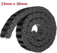 15mm x 30mm R28 Plastic Cable Semi-closed Drag Chain Wire Carrier Length 1000mm