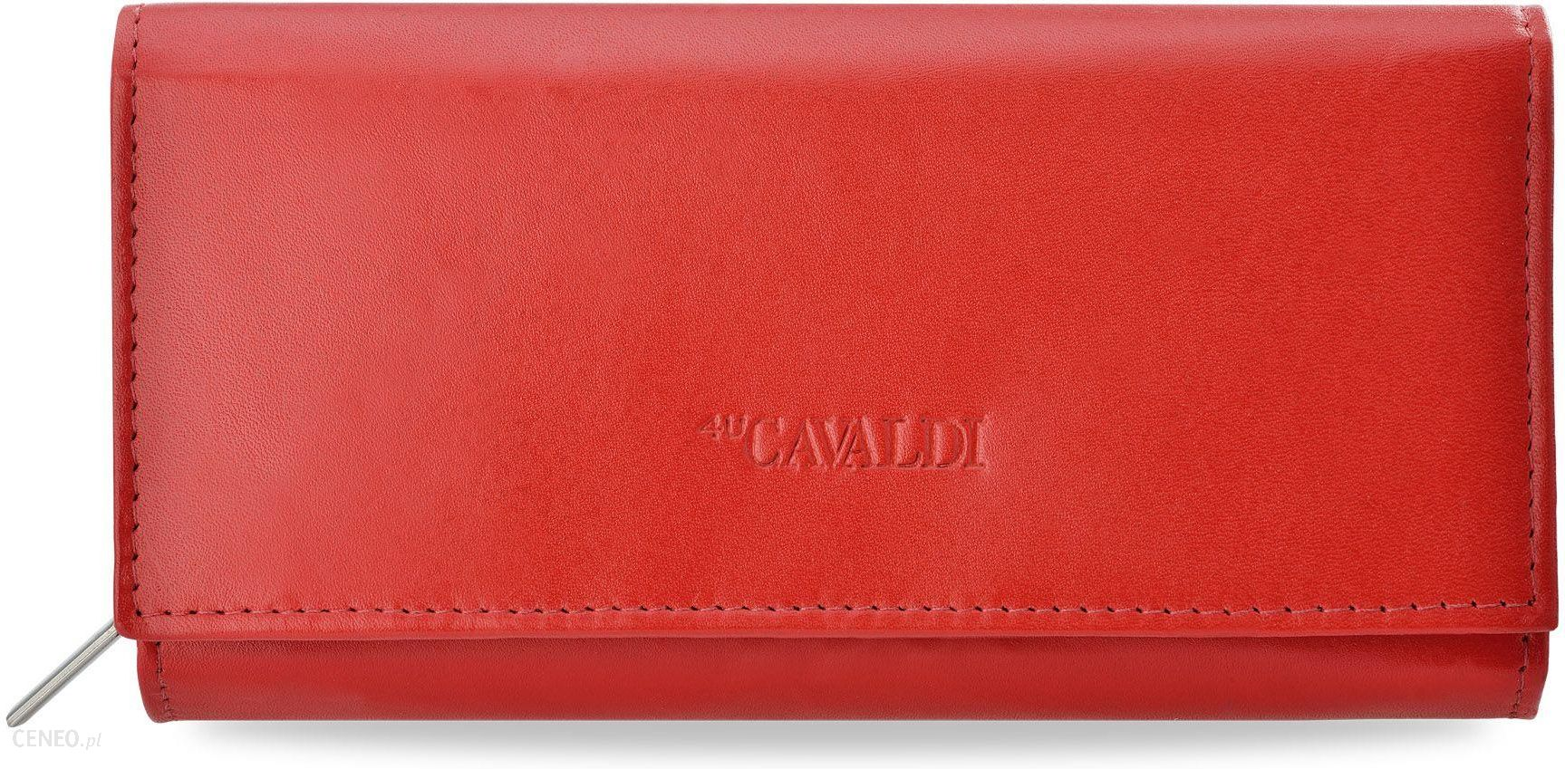 4d12d92bd2a7a Klasyczny portfel damski cavaldi harmonijka skóra naturalna - czerwony -  zdjęcie 1