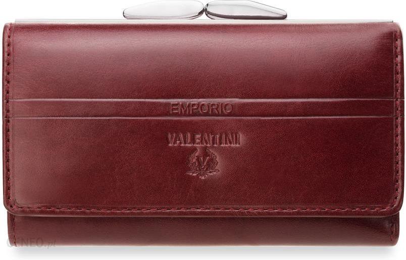 ba84e6f92da4d Skórzany portfel damski portmonetka na bigiel emporio valentini - czerwony  - zdjęcie 1