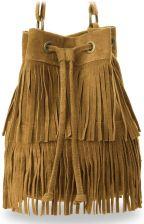 3e3f5aac25d84 Sakwa torebka boho worek damski zamsz made in italy hippie - camel ...
