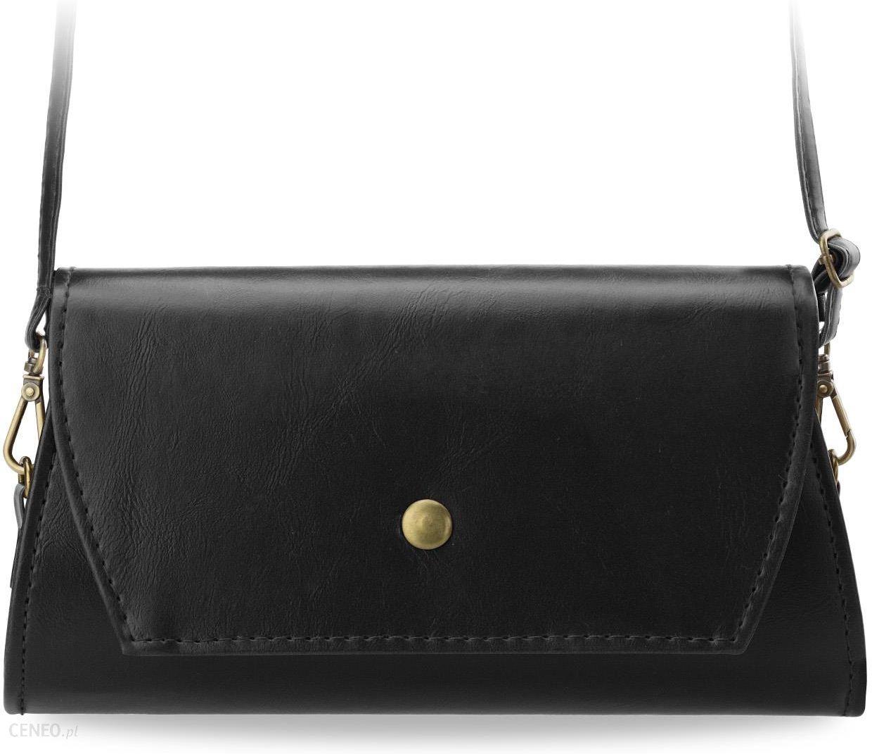 df933ed276f8b Klasyczna sztywna kopertówka torebka damska przewieszka - czarny - zdjęcie 1
