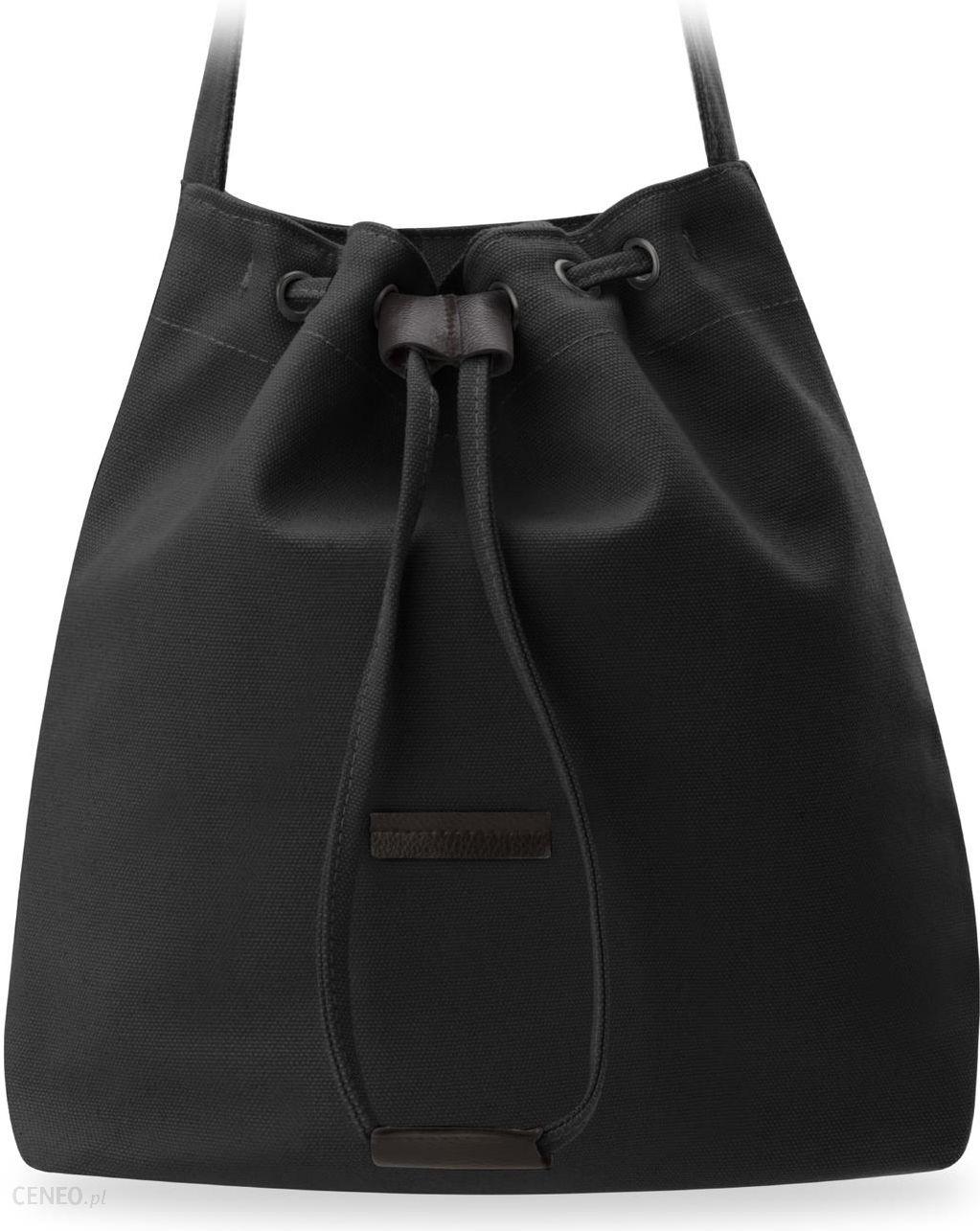 ad2ffe521f64f Eko torba damska zakupowa worek sakwa płócienna - czarny - Ceny i ...