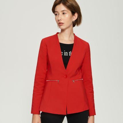 87d683292cca3 House - Ciepła kurtka z kontrastową podszewką - Czerwony - Ceny i ...