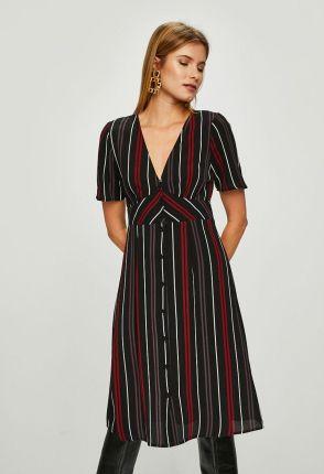 c2c100918c Sukienka ICHI 4990-SUD216 Sukienki wizytowe Czarny - Ceny i opinie ...