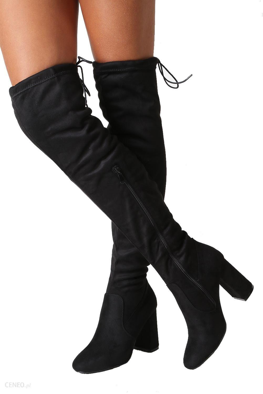 4f5770c5 Czarne kozaki muszkieterki za kolano na słupku Casu W114-1 - Ceny i ...