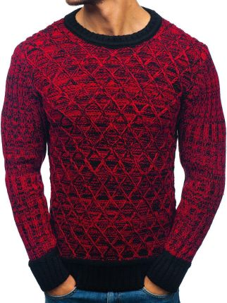 eb22367fd65e Sweter męski we wzory czarny Denley 332 - Ceny i opinie - Ceneo.pl