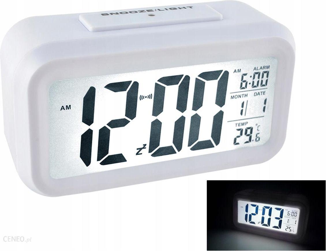 Iso Budzik Zegar Cyfrowy Duży Wyświetlacz Led 1224h