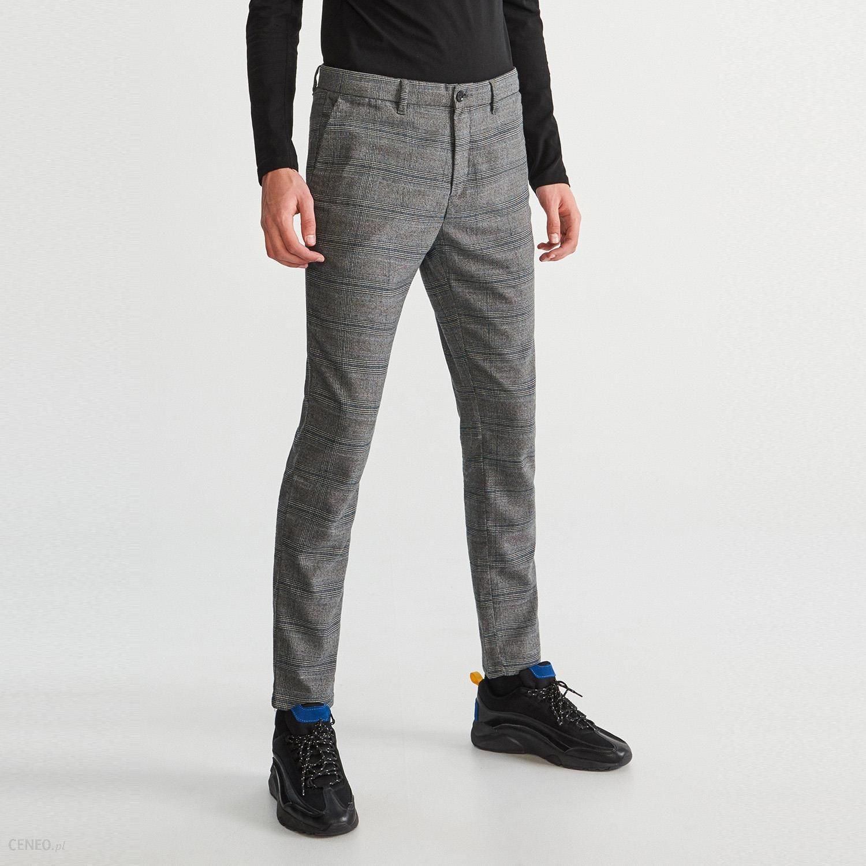 57c3ce799f9e1 Reserved - Spodnie garniturowe w kratę - Szary - Ceny i opinie ...