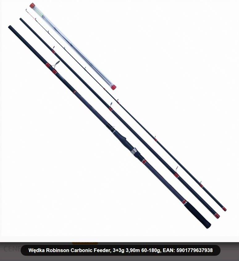 Robinson Wędka Carbonic Feeder 3+3g 3.90m 60-180g (1CB-FE-393) (1cbfe393)