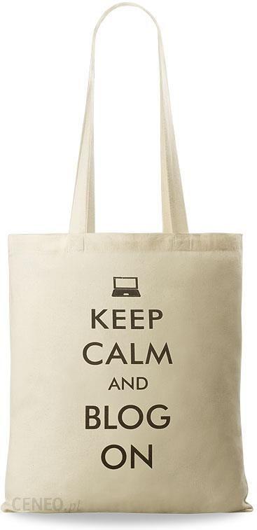 Torba shopperbag eko torba bawełniana z nadrukiem na zakupy keep calm