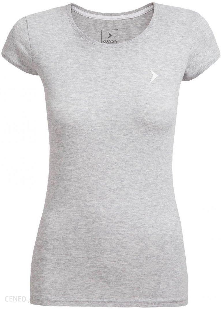 Outhorn T shirt damski TSD616 ciepły jasny szary Ceny i opinie Ceneo.pl