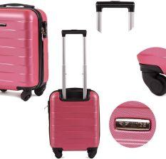 108c943983f47 Bardzo mała kabinowa walizka KEMER 401 XS Różowa - Różowy