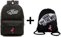 511e4e3932ae3 Plecak VANS Realm Backpack Custom Flaming + Worek VANS Custom Flaming