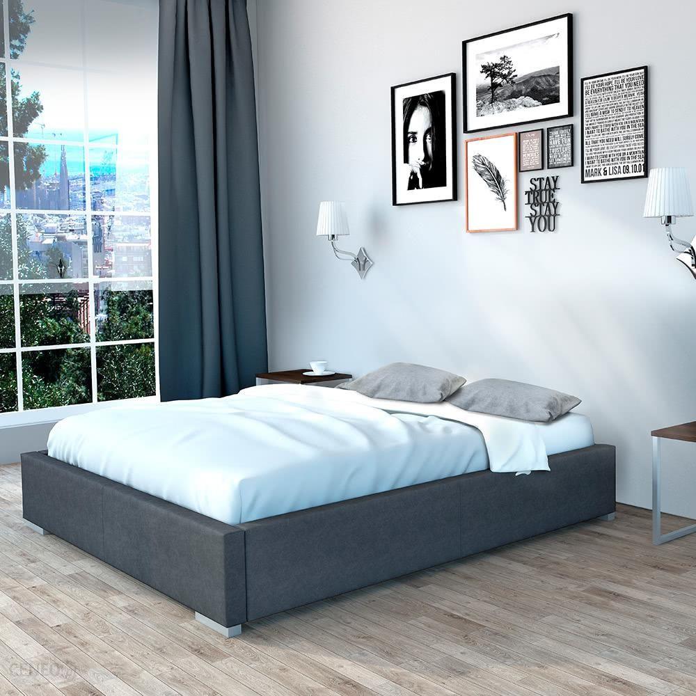 Senpo Rama łóżka Tapicerowanego 160x200 Grupa 2 Z Pojemnikiem Standard